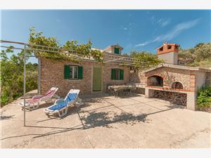 Ház Branko Postira - Brac sziget, Autentikus kőház, Robinson házak, Méret 30,00 m2
