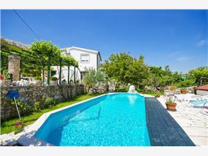 Lägenheter Mladen Baska - ön Krk, Storlek 50,00 m2, Privat boende med pool