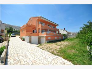 Appartementen Blaženka Pag - eiland Pag, Kwadratuur 45,00 m2, Lucht afstand tot de zee 200 m