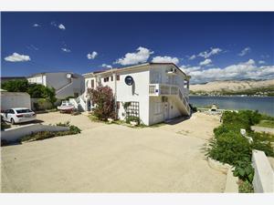 Апартаменты Smail Pag - ostrov Pag, квадратура 45,00 m2, Воздуха удалённость от моря 70 m