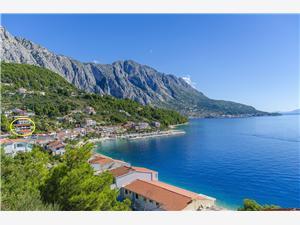 Appartementen Kunac Makarska Riviera, Kwadratuur 40,00 m2, Lucht afstand tot de zee 70 m