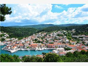 Ferienwohnungen Tonka Pucisca - Insel Brac, Größe 100,00 m2, Luftlinie bis zum Meer 250 m, Entfernung vom Ortszentrum (Luftlinie) 50 m