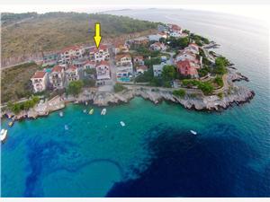 Ferienwohnungen Toni Bilo (Primosten), Größe 32,00 m2, Luftlinie bis zum Meer 50 m