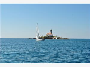 Avlägsen stuga Blå Istrien,Boka Sv.Ivan Från 1188 SEK