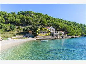 Huis Ana Kroatië, Afgelegen huis, Kwadratuur 60,00 m2, Lucht afstand tot de zee 10 m
