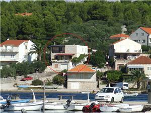 Appartement Ivan Lumbarda - île de Korcula, Superficie 55,00 m2, Distance (vol d'oiseau) jusque la mer 50 m