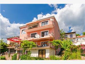 Apartmanok Nenad Kvarner, Méret 80,00 m2, Központtól való távolság 150 m