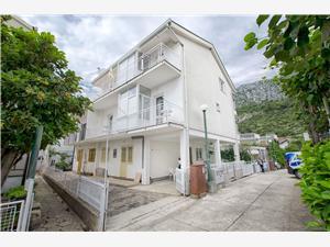 Apartmány Bonko Podaca, Prostor 45,00 m2, Vzdušní vzdálenost od moře 80 m, Vzdušní vzdálenost od centra místa 100 m