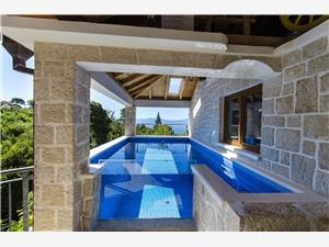 Villa Strnj Dalmácia, Autentikus kőház, Méret 150,00 m2, Szállás medencével