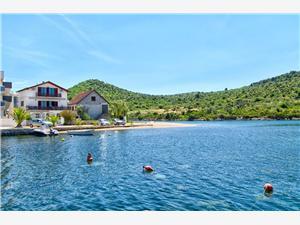 Beachfront accommodation Sibenik Riviera,Book Bosiljka From 102 €
