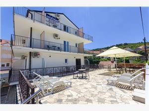 Ferienwohnungen und Zimmer Iva Kroatien, Größe 16,00 m2, Luftlinie bis zum Meer 100 m, Entfernung vom Ortszentrum (Luftlinie) 200 m