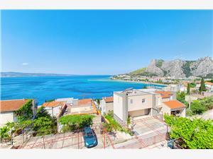 Appartementen Tomislav Omis, Kwadratuur 50,00 m2, Lucht afstand tot de zee 270 m, Lucht afstand naar het centrum 600 m