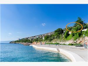 Apartmány Adela Rijeka a Riviéra Crikvenica, Prostor 70,00 m2, Vzdušní vzdálenost od moře 50 m, Vzdušní vzdálenost od centra místa 700 m