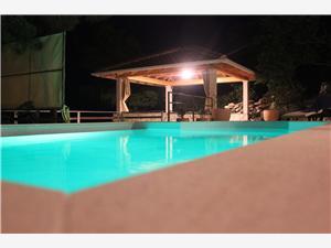 Дом Ana Sobra - ostrov Mljet, квадратура 80,00 m2, размещение с бассейном, Воздуха удалённость от моря 10 m