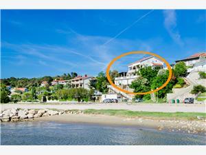 Lägenheter Albina Lopar - ön Rab, Storlek 100,00 m2, Luftavstånd till havet 100 m