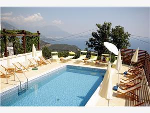 Apartmaji Oktopus Bar in Ulcinj riviera, Kvadratura 44,00 m2, Namestitev z bazenom