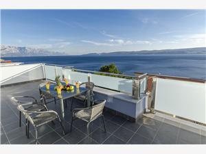 Ferienwohnungen Lorenzo Dalmatien, Größe 60,00 m2, Privatunterkunft mit Pool, Luftlinie bis zum Meer 140 m
