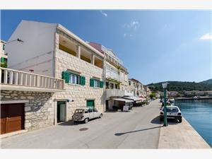 Appartements Franka Povlja - île de Brac, Superficie 80,00 m2, Distance (vol d'oiseau) jusqu'au centre ville 50 m