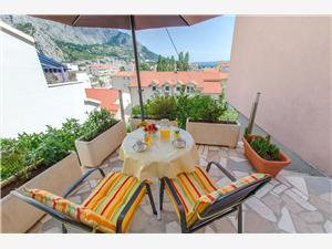 Apartmány Zecic Omis, Prostor 25,00 m2, Vzdušní vzdálenost od centra místa 600 m