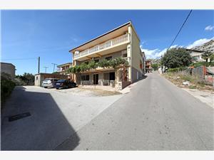 Appartementen Luka Starigrad Paklenica, Kwadratuur 45,00 m2, Lucht afstand naar het centrum 200 m