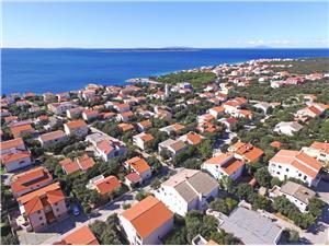Apartmány Gligora Mandre - ostrov Pag, Prostor 25,00 m2, Vzdušní vzdálenost od centra místa 200 m