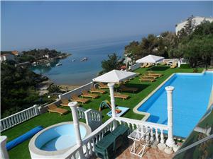 Apartmaji MACADAMS Potocnica - otok Pag, Kvadratura 44,00 m2, Namestitev z bazenom, Oddaljenost od morja 100 m