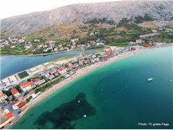 Prosika Pag - ostrov Pag Plaža