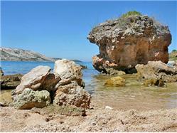 Pudarica Barbat - ostrov Rab Plaža