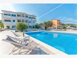 Appartementen Gabrijela Noord-Dalmatische eilanden, Kwadratuur 43,00 m2, Accommodatie met zwembad, Lucht afstand tot de zee 10 m