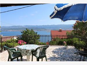 Appartements Dunato Anita Silo - île de Krk, Superficie 25,00 m2, Distance (vol d'oiseau) jusque la mer 200 m, Distance (vol d'oiseau) jusqu'au centre ville 300 m