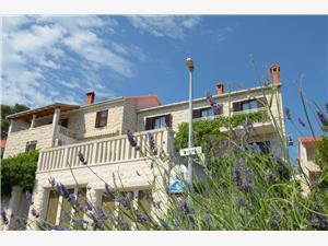 Appartement Fanita Postira - île de Brac, Superficie 75,00 m2, Distance (vol d'oiseau) jusque la mer 70 m, Distance (vol d'oiseau) jusqu'au centre ville 120 m