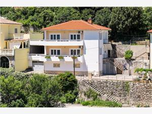Appartement Sanja Vrbnik - île de Krk, Superficie 75,00 m2, Distance (vol d'oiseau) jusqu'au centre ville 250 m