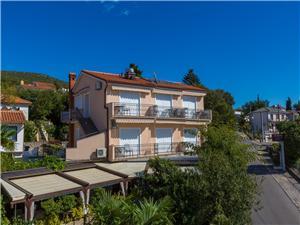 Ferienwohnungen und Zimmer Nensi Riviera von Rijeka und Crikvenica, Größe 16,00 m2, Luftlinie bis zum Meer 100 m
