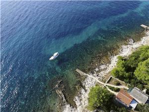 Hus Solros Kroatien, Avlägsen stuga, Storlek 40,00 m2, Luftavstånd till havet 20 m