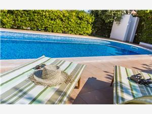 Apartmány Brnić Ž. Silo - ostrov Krk, Prostor 28,00 m2, Soukromé ubytování s bazénem, Vzdušní vzdálenost od moře 150 m