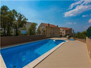 Apartmány Adria Rijeka a Riviéra Crikvenica, Prostor 26,00 m2, Soukromé ubytování s bazénem