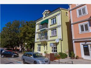 Apartmanok Villa Katarina Selce (Crikvenica), Méret 38,00 m2, Légvonalbeli távolság 50 m, Központtól való távolság 15 m