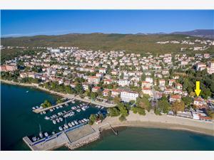 Apartmán RONI Kvarner, Rozloha 80,00 m2, Vzdušná vzdialenosť od mora 15 m, Vzdušná vzdialenosť od centra miesta 700 m