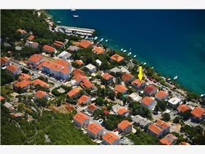 Appartementen Vuković Dramalj (Crikvenica), Kwadratuur 70,00 m2, Lucht afstand tot de zee 50 m