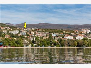 Apartmanok RUZA Crikvenica, Méret 30,00 m2, Központtól való távolság 800 m