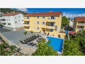 Apartmaji GORICA II Baska - otok Krk, Kvadratura 60,00 m2, Namestitev z bazenom, Oddaljenost od centra 200 m