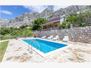 Casa Marta Omis, Casa di pietra, Dimensioni 80,00 m2, Alloggi con piscina