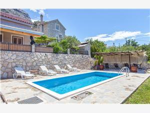 Ház Marta Omis, Autentikus kőház, Méret 80,00 m2, Szállás medencével