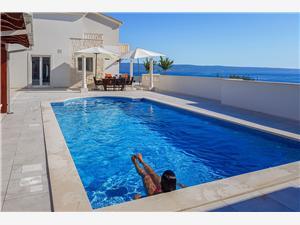 вилла The White Villa Podstrana, квадратура 300,00 m2, размещение с бассейном, Воздуха удалённость от моря 100 m