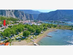 Apartmani Srdanovic Omiš, Kvadratura 35,00 m2, Zračna udaljenost od centra mjesta 900 m