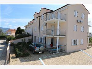 Appartements Sonata Silo - île de Krk, Superficie 35,00 m2, Distance (vol d'oiseau) jusque la mer 250 m, Distance (vol d'oiseau) jusqu'au centre ville 400 m