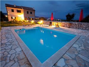 Kuća za odmor RUDINE Dobrinj - otok Krk, Kvadratura 80,00 m2, Smještaj s bazenom