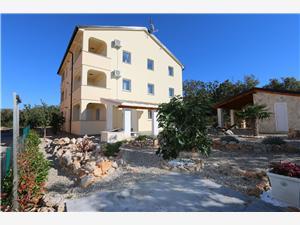 Apartmani Rogic-Klimno Klimno - otok Krk, Kvadratura 60,00 m2, Zračna udaljenost od centra mjesta 600 m