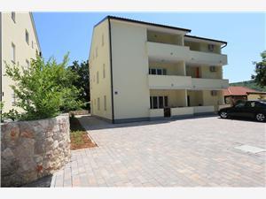 Апартаменты Knego Silo - ostrov Krk, квадратура 56,00 m2, размещение с бассейном, Воздух расстояние до центра города 600 m