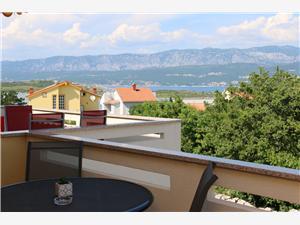 Apartament Rinkovec Klimno - wyspa Krk, Powierzchnia 48,00 m2, Odległość do morze mierzona drogą powietrzną wynosi 200 m, Odległość od centrum miasta, przez powietrze jest mierzona 450 m